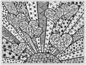 coloring pages for adults hearts pictures to color for realistic coloring pages