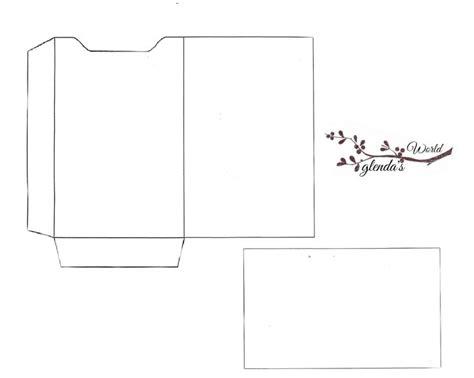 Mini Sleeve Card Template by Glenda S World Gift Card Sleeve With Card