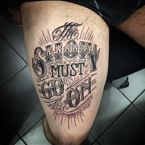 tattoo fonts up and down 21inkedd the show must go on by pierr oked