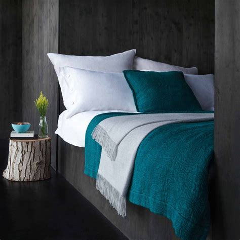 teal and grey bedroom tones urbanara teba teal bedspread my favorite bedrooms