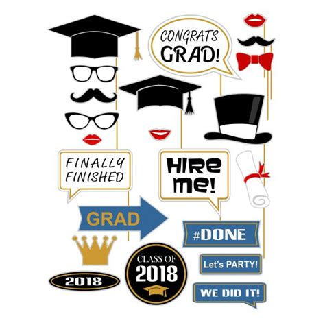 graduation photo booth layout graduation photo props booth cuttable design