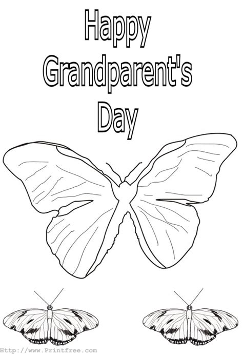 Grandparents Day Printable Coloring Pages Let S Celebrate