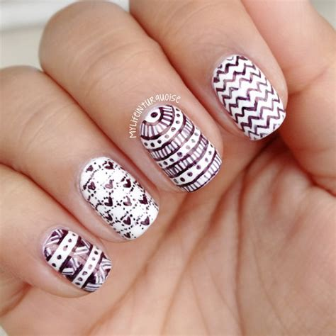 nail patterns and designs 20 amazing black and white nail designs yve style