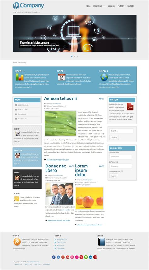 free joomla business template company free joomla template for business
