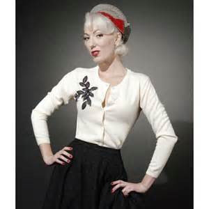 This beaded cardigan is perfect for the 1950 srockabilly kitten these