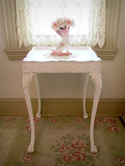 shabby chic end tables white and pink antique end table vintage shabby chic
