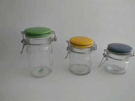 Spice Jar With Spoon Wholesale Glass Jar With Ceramic Lid And Spoon For Spice