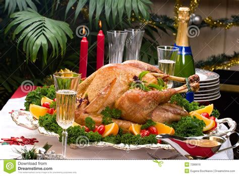 Decorated Turkey by Turkey On Table Royalty Free Stock Image