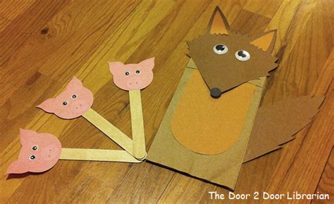 wolf puppet template paper bag puppets the door 2 door librarian