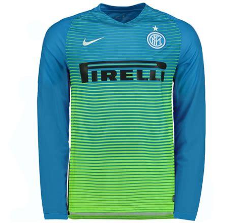 Inter Away Ls inter milan 16 17 third away blue sleeve jersey