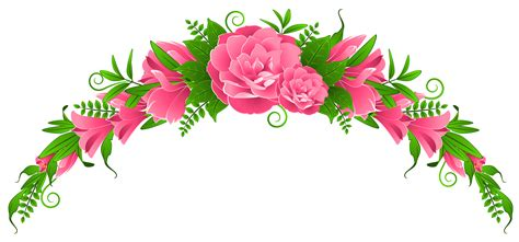flower clipart pink clipart flower border pencil and in color pink