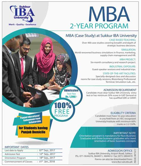 Iba Evening Mba Curriculum by Admission In Sukkur Institute Of Business Administration