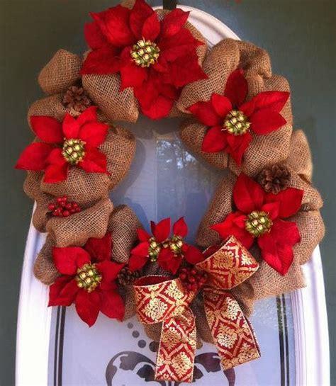 poinsettia burlap wreath allfreechristmascraftscom