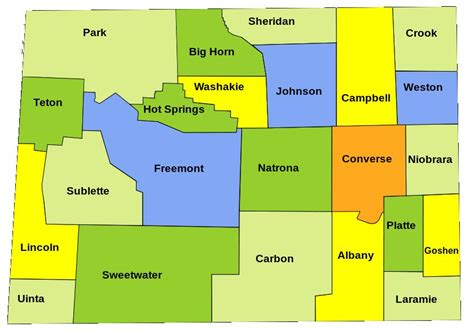 Wyoming Map With Counties   2017   2018 Best Cars Reviews