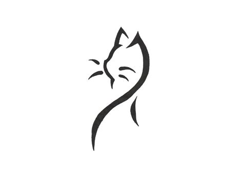 simple tattoo design images easy designs free designs cat by few lines