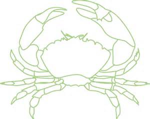 crab outline crab clip at clker vector clip