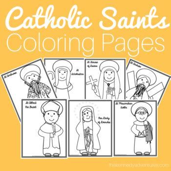 catholic saints coloring pages including depictions
