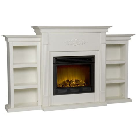 electric fireplace with bookcase holly martin fredricksburg electric fireplace w