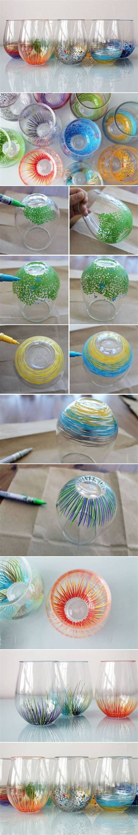 Decorating Glass With Sharpies by Decorated Stemless Wine Glasses Sharpie Paint Markers I
