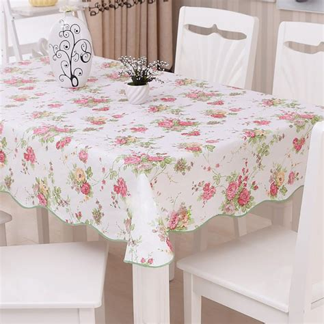 Kitchen Table Cover Aliexpress Buy Waterproof Oilproof Wipe Clean Pvc Vinyl Tablecloth Dining Kitchen Table