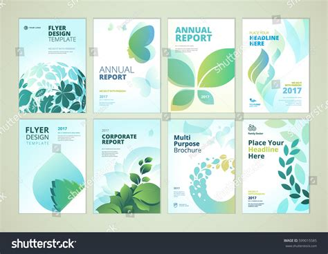 layout design nature nature healthcare brochure cover design flyer stock vector