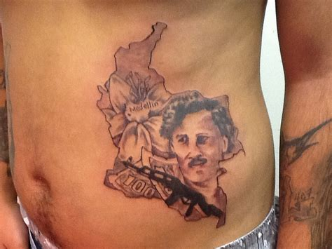 pablo escobar tattoo colombia pablo escobar portrait flickr photo