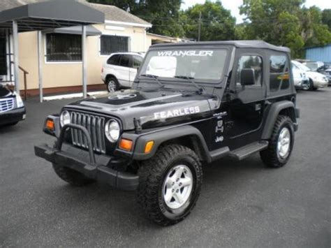 Used 1998 Jeep Wrangler Purchase Used 1998 Jeep Wrangler Sport In 5702 N Florida