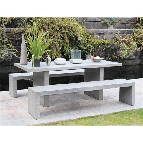 Salon De Jardin En Beton salon de jardin en fibre de ciment effet b 233 ton grace