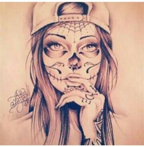 girl skull tattoo missshar91 follow for more arte