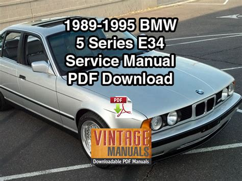 car service manuals pdf 1992 bmw 8 series navigation system 1989 1995 bmw 525i 530i 535i 540i e34 service manual vintagemanuals