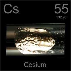 Cesium Protons 55 Caesium Cs Periodic Table By Mister Molato