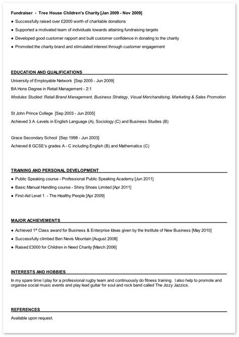 skills and interests resume exles resume hobbies and interests exles free printable