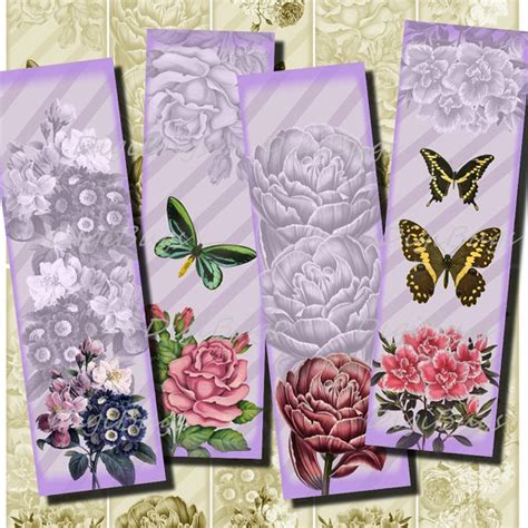 free printable bookmarks flowers printable bookmarks romantic butterflies with flowers