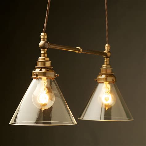 Pendant Lighting Shade Two Light Shade Brass E27 Pendant