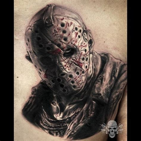 jason mask tattoo 13 totally rad jason voorhees tattoos to inspire you this