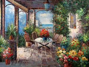 painting patio mediterranean patio painting id la 3155 ka