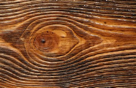 Wooden texture painted in brown, close up   Stock Photo