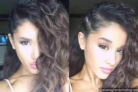 ariana grande hair evolution from brunette curls to straight red ariana grande looks gorgeous with natural curly hair