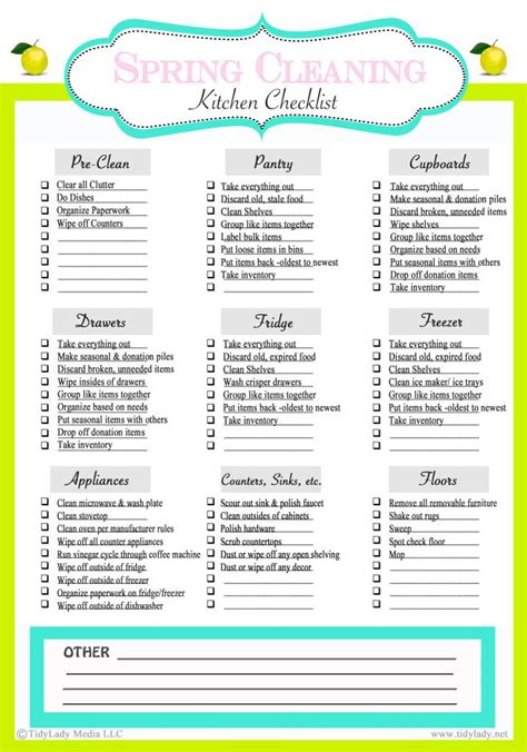kitchen checklist 22 best images about organizing stuff on pinterest
