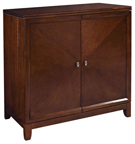 flip top bar cabinet hammary furniture flip top bar in root beer wine and bar