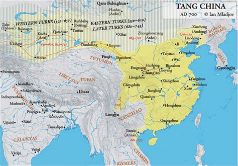 tang dynasty map history of china and east asia to the ming dynasty