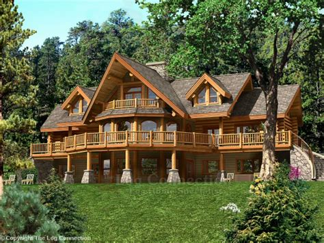 Ranch Home Floor Plan Bavarian Dream Log Home Pictures