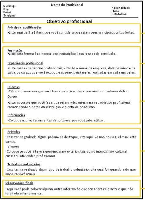 Modelo Curriculum Funcionario Modelos De Curriculo Pronto