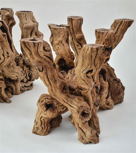Driftwood L Base by Pair Of Driftwood Table Bases For Sale At 1stdibs