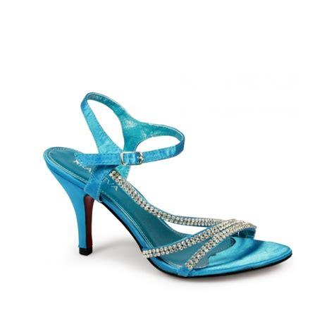 turquoise high heels shoes shuperb tina high heel diamante satin shoes