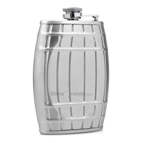 stainless steel barware dropship 6 ounces barrel shaped stainless steel barware