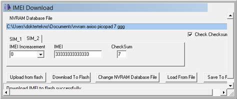 reset di smd e nvram cara mengatasi masalah imei backup restore no service