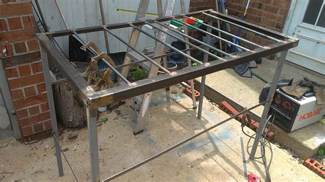 diy welding bench large welding table on the cheap jtbmetaldesigns s blog