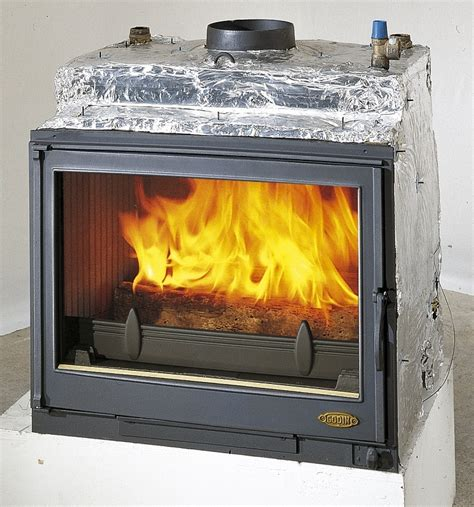 godin wood burning back boiler fireplace insert 5152