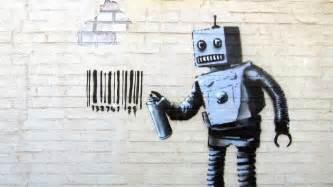 Attractive Graffiti Artist Banksy #4: Banksy-robot-1030x579.jpg